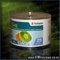 CD-R 80 Min 25Pk 5 Colour Lightscribe 52x V1.2